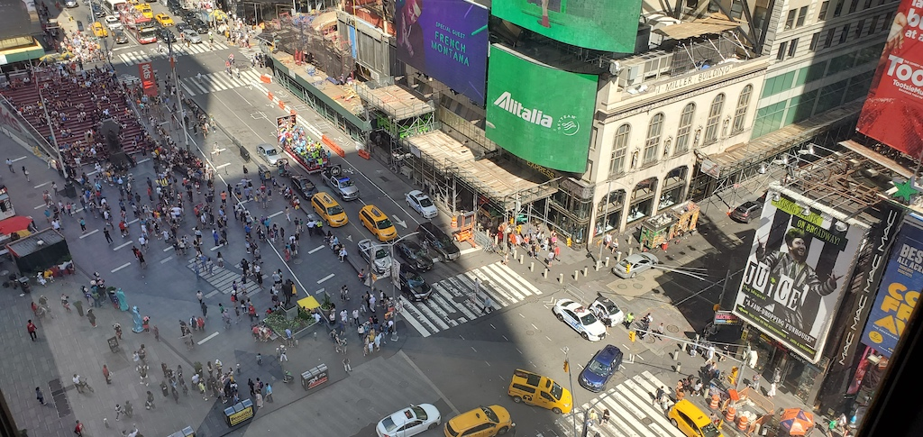 View of Times Square from the Marriott Marquis New York