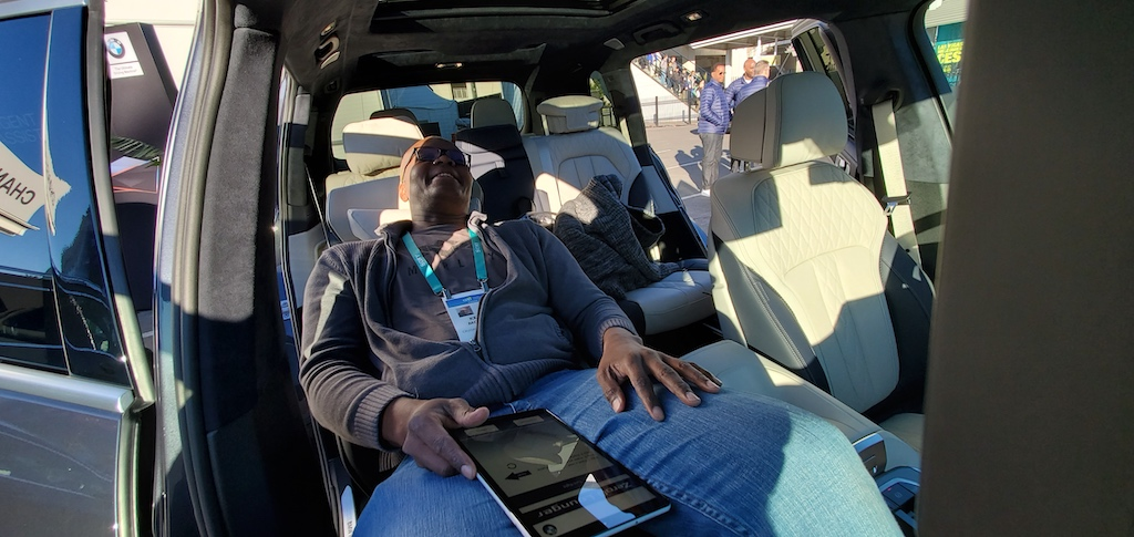 CES 2020 BMW x7 Zero Gravity Seat Fully Reclined