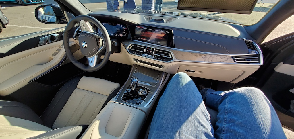 CES 2020 BMW x7 Zero Gravity Seat Fully Reclined Dashboard