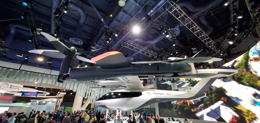 CES 2020 Hyundai Uber Flying Vehicle