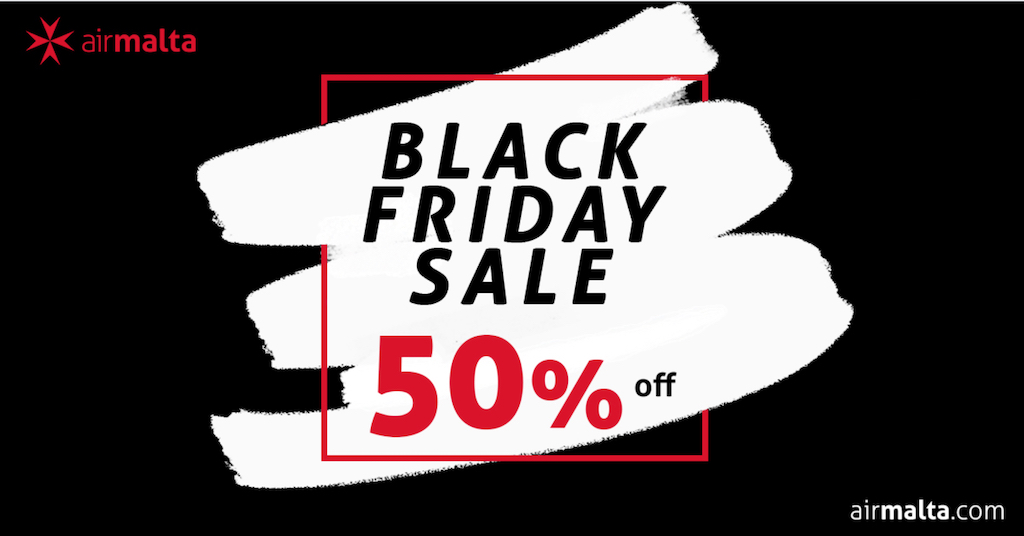 Air Malta Black Friday 2019 Travel Deals