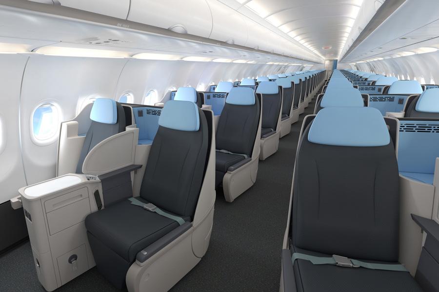 La compagnie Airbus A321 Interior