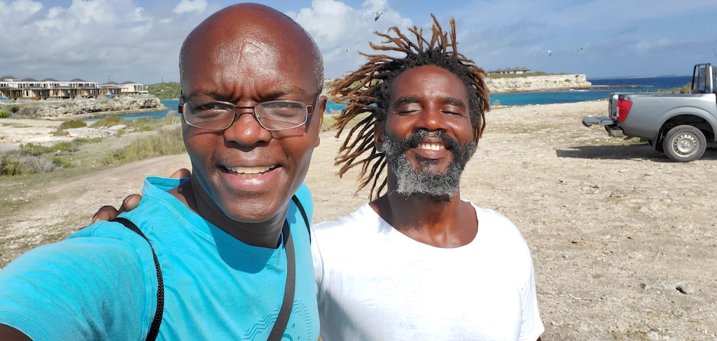 Antigua and Barbuda - Kerwin and Trevor at Devil's Bridge