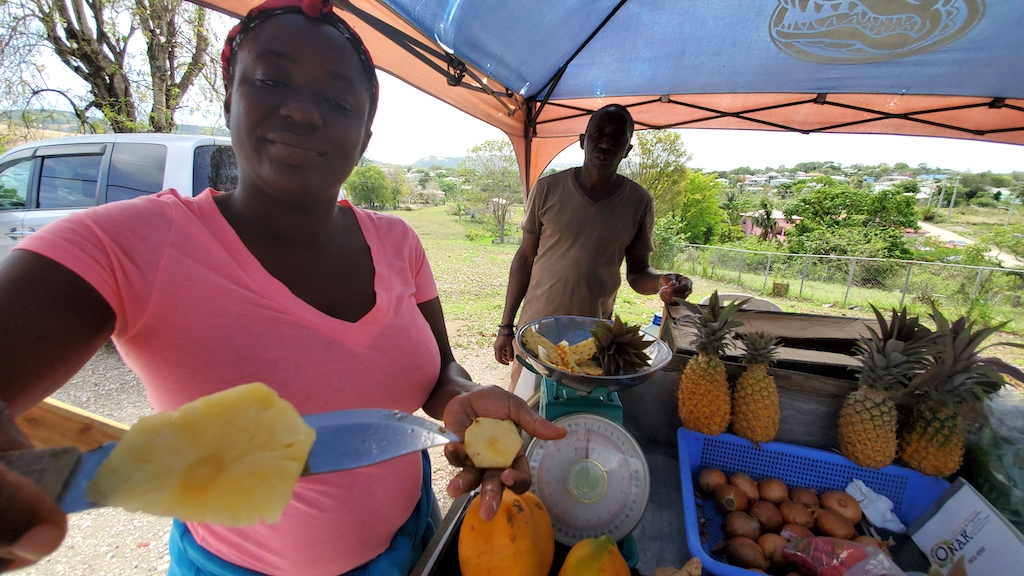 Antigua and Barbuda - Roadside vendor