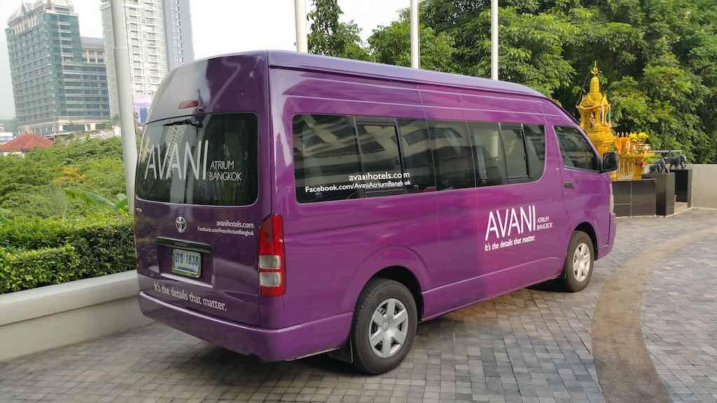 Avani Atrium Bangkok Shuttle at the Hotel