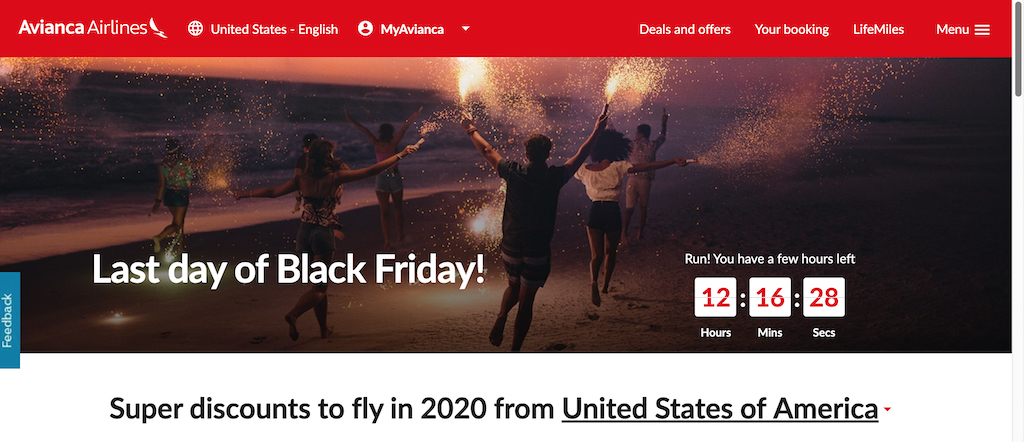 Avianca Cyber Monday Travel Deals 2019
