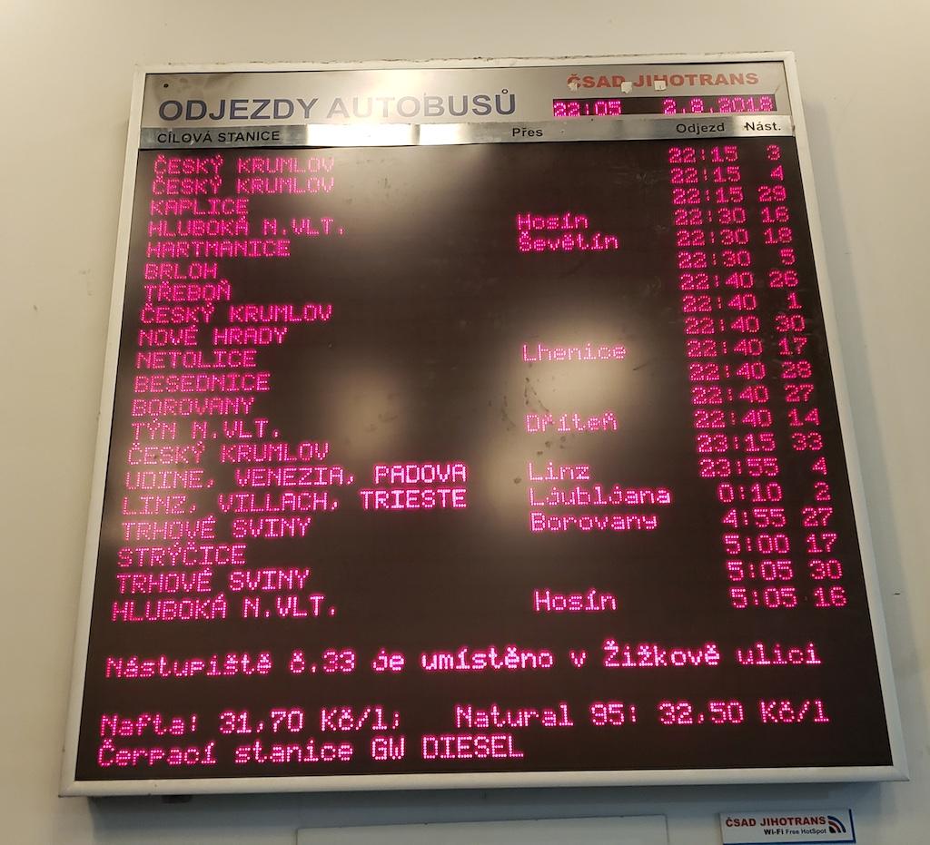 České Budějovice, Czech Republic Bus Schedule