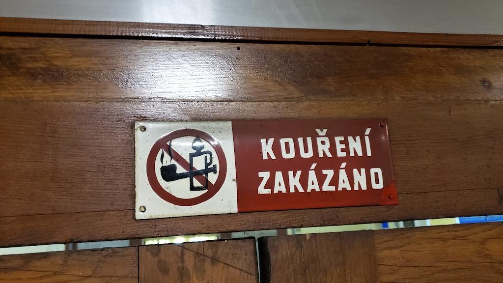České Budějovice - Czech, Republic - Odjeza Station - No Smoking