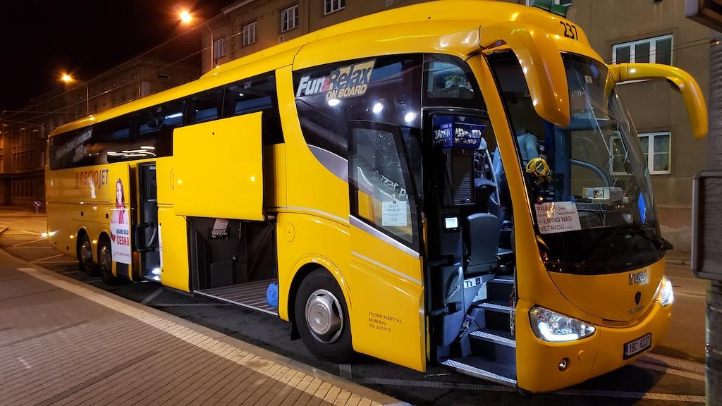 České Budějovice, Czech Republic Regiojet bus