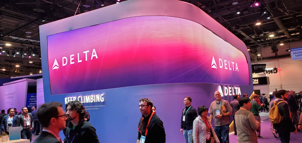 CES 2020 Delta Air Lines Booth