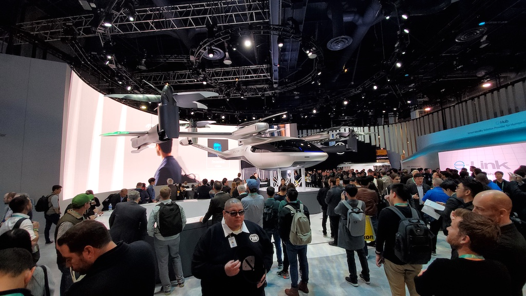 CES 2020 Hyundai Uber Flying Vehicle Right Side