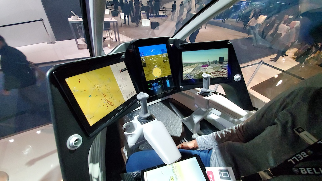 CES 2020 Bell Nexus Air Taxi cockpit