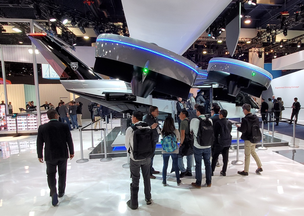 CES 2020 Bell Nexus Air Taxi side view