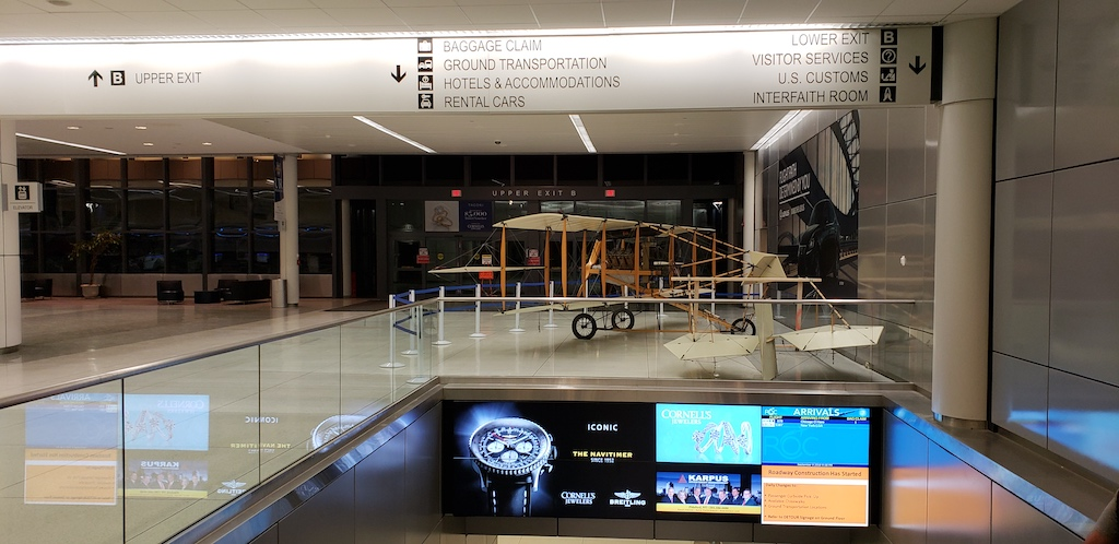 Corning, NY - Rochester Airport (ROC) Wright Flyer