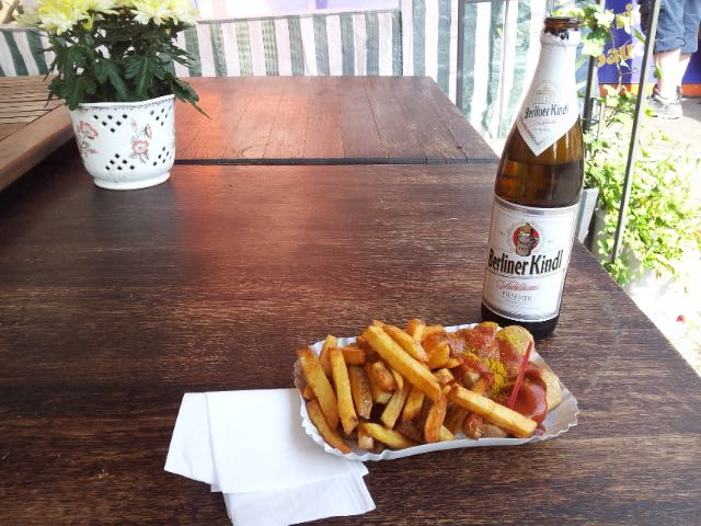 Currywurst, pomme frites and Beer Berlin, Germany