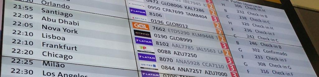 Departure FIDs GRU