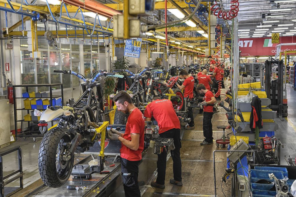 Ducati Museum and Factory Tour Assembly Line - courtesy of Ducati