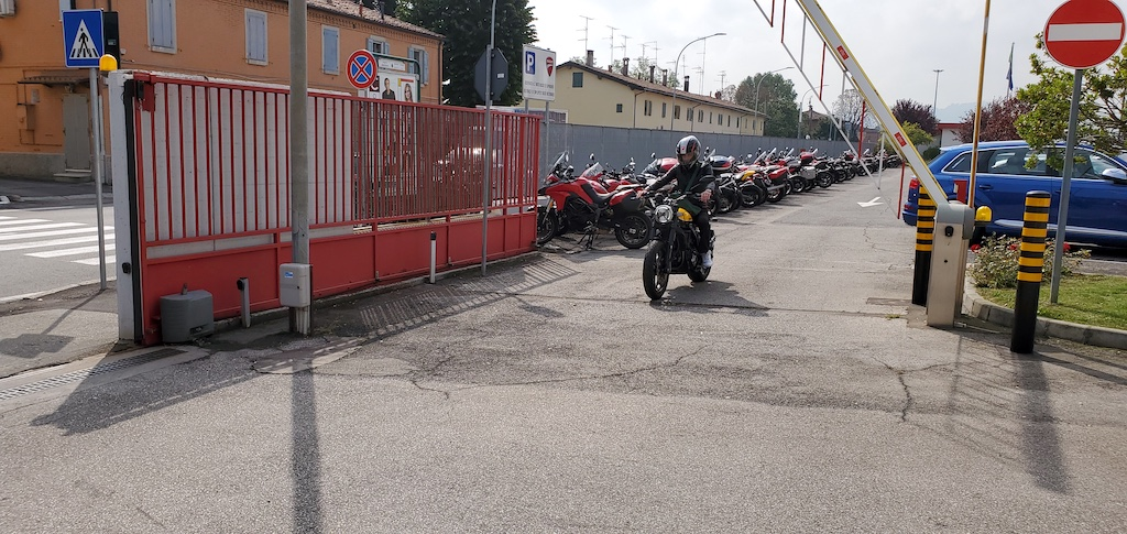 Ducati Museum and Factory Tour - Employee Riding Ducati