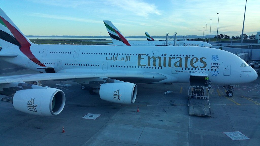 Emirates (EK) Airbus A380s in Auckland, New Zealand (AKL)