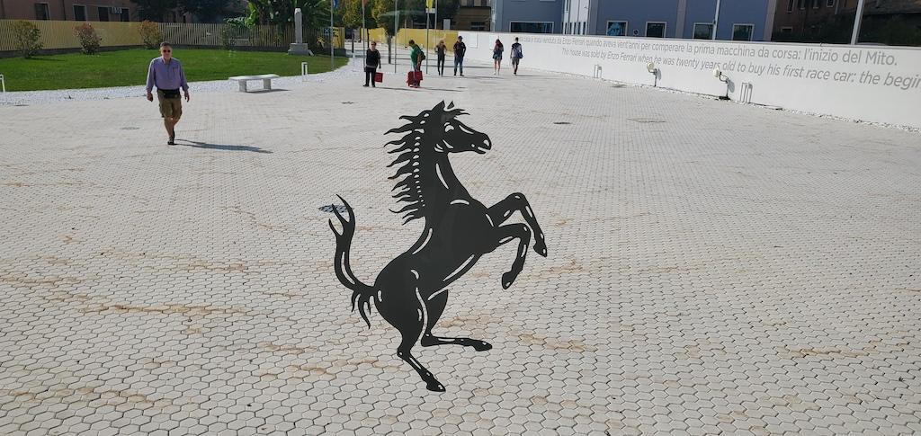 Enzo Ferrari Museum Ferrari logo