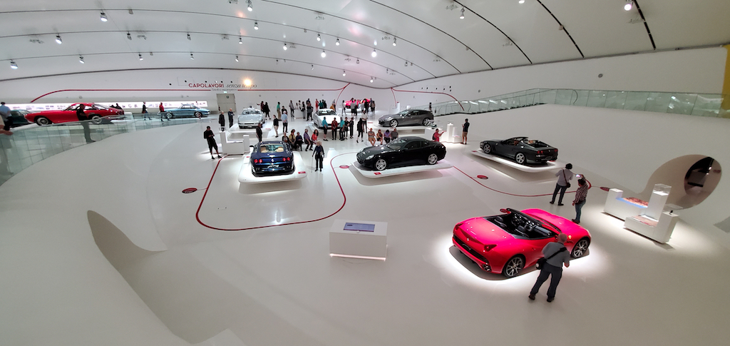 Enzo Ferrari Museum showroom