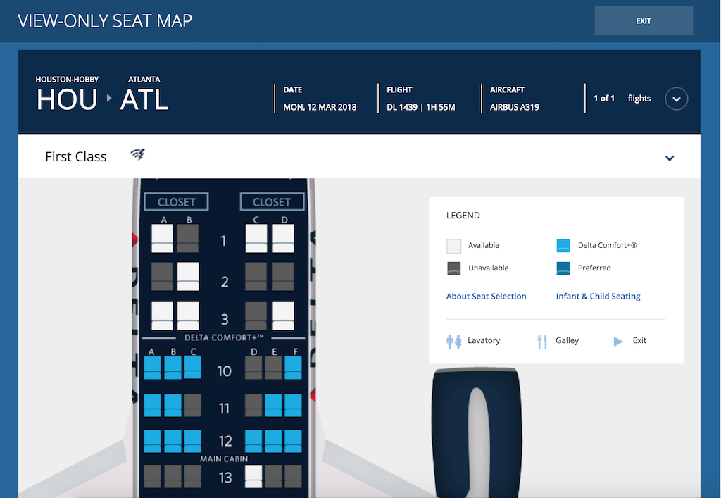 Flight Loads - Delta Air Lines Flight Loads View Available Seats Airbus A319