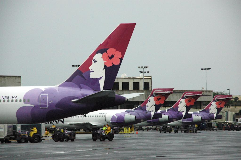 Hawaiian Airlines (HA) airplanes at HNL