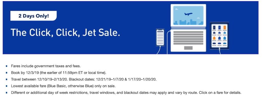 JetBlue Cyber Monday 2019 Travel Deals