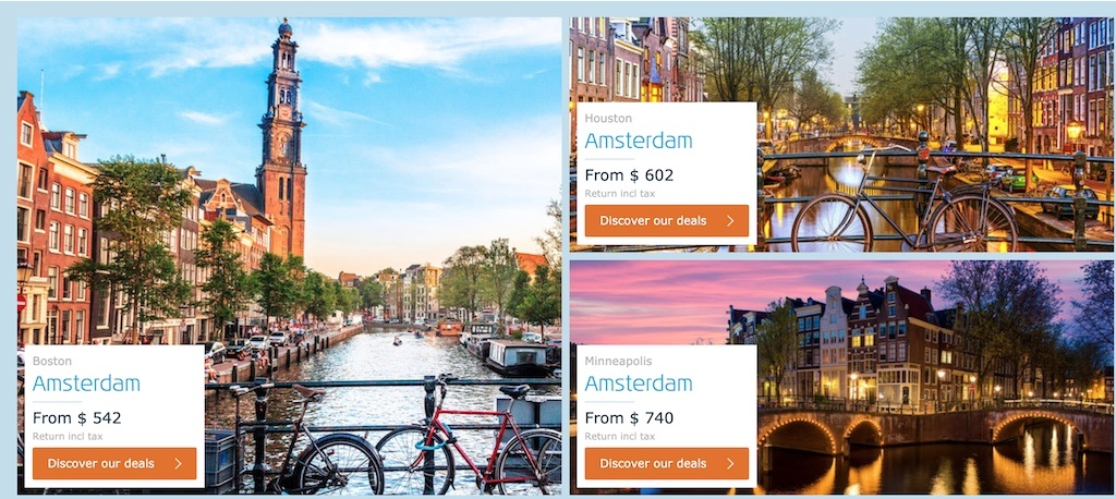 KLM Black Friday 2019 Travel Deals