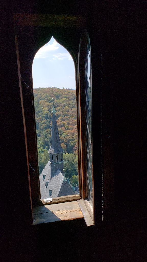 Karlštejn Castle - Tower View with Steeple