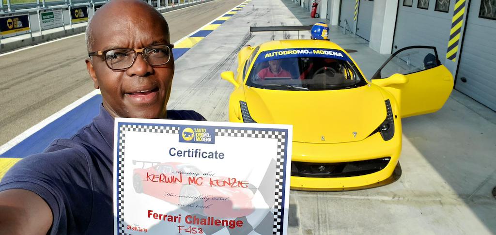 Kerwin at Autrodromo Modena, Italy