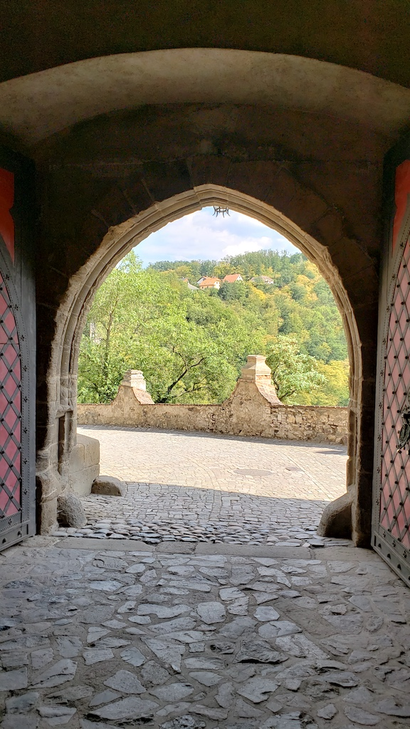 Křivoklát Castle - Castle Entrance