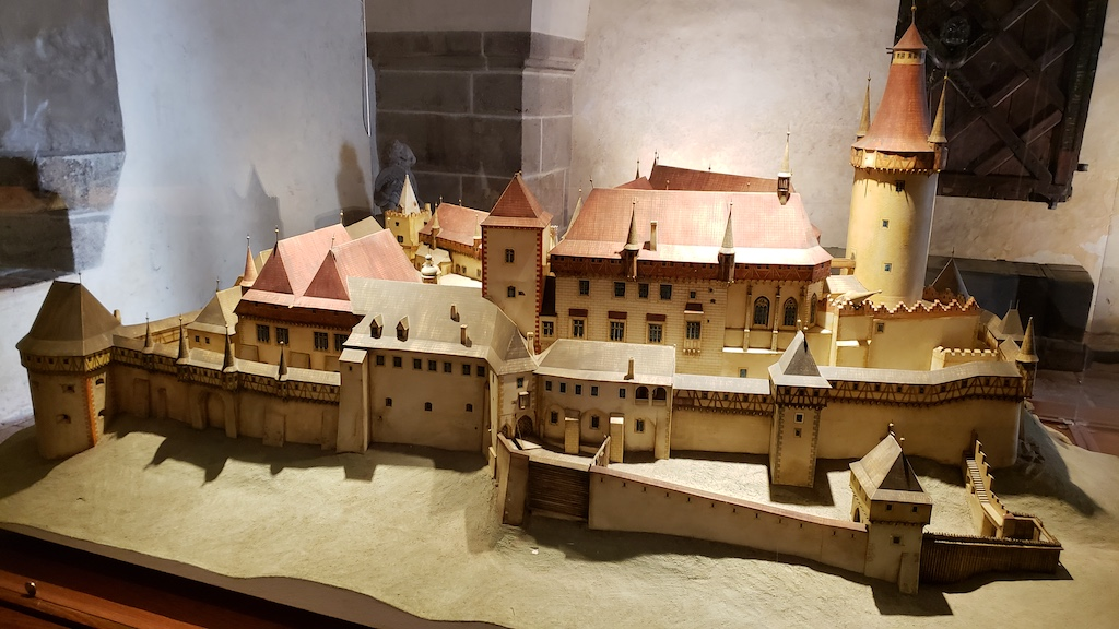 Křivoklát Castle - Side View Model of Castle