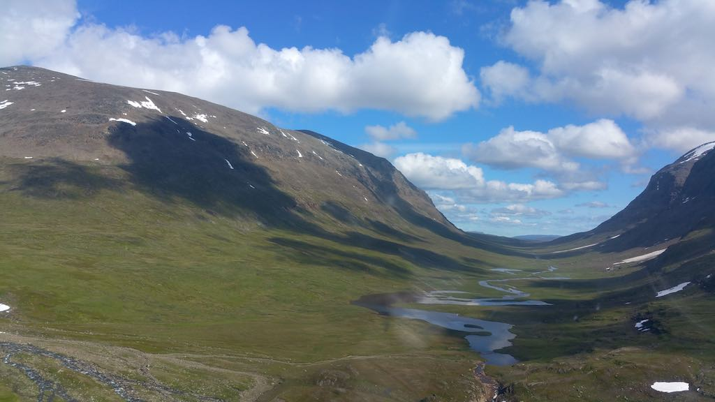 Hemavan/Tarnaby - Kungsleden Trail from Above