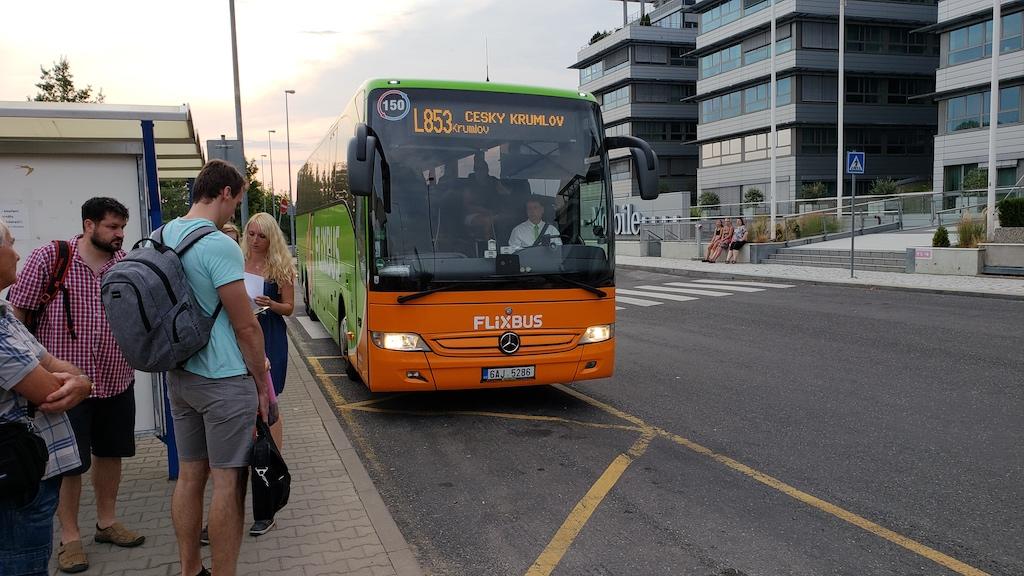 České Budějovice - Flixbus in Prague, Czech Republic