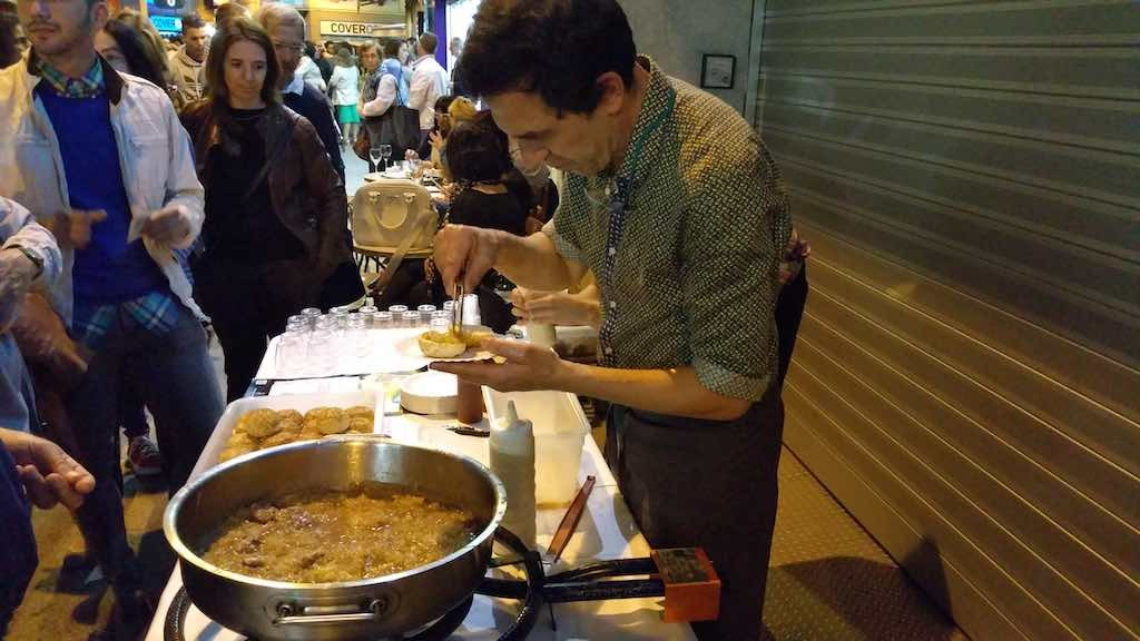 Lloret de mar, Spain - Local Food at the Night Shopping