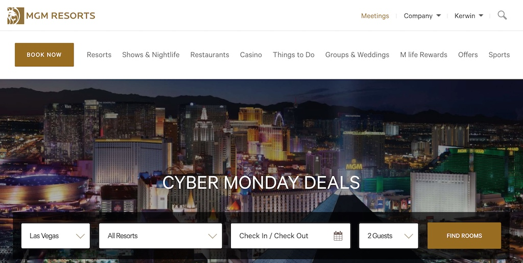 MGM Hotels Cyber Monday 2019 Travel Deals