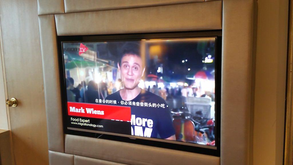 Mark Weins on TV at the Avani ATRIUM Bangkok