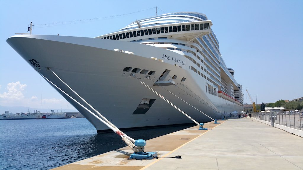Messina, Italy - MSC Fantasia in port