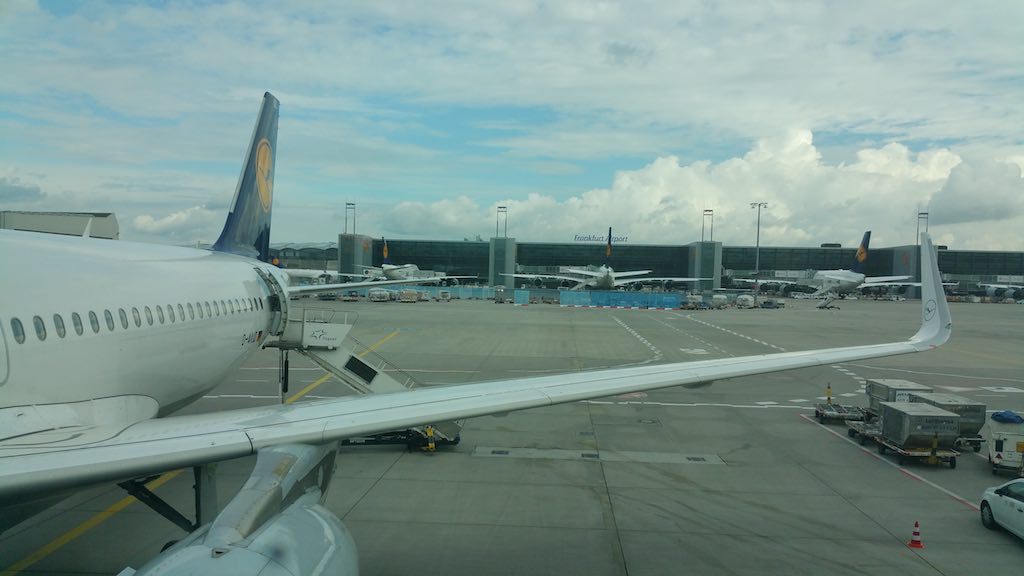 National Aviation Day - Lufthansa Airbus A320 with sharklets in Frankfurt International Airport, Frankfurt, Germany (FRA)
