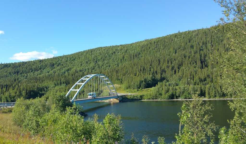 A beautiful bridge in Saxnas, Sweden