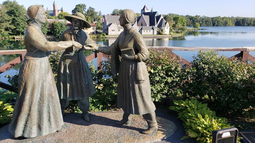 Susan B. Anthony Meets Elizabeth Cady Stanton, Seneca Falls, NY USA