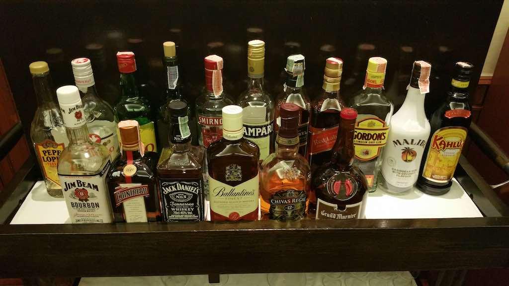 Top shelf drinks at the Avani ATRIUM Bangkok Lounge