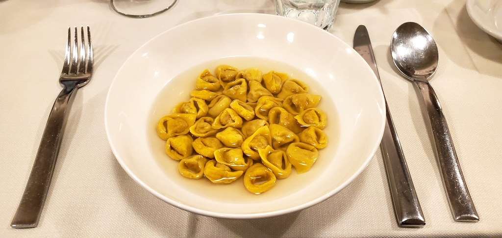 Tortellini from Pomposa al Regras Modena, Italy