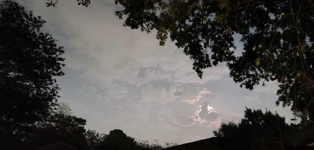 Pink Super Moon Over Houston, Texas USA