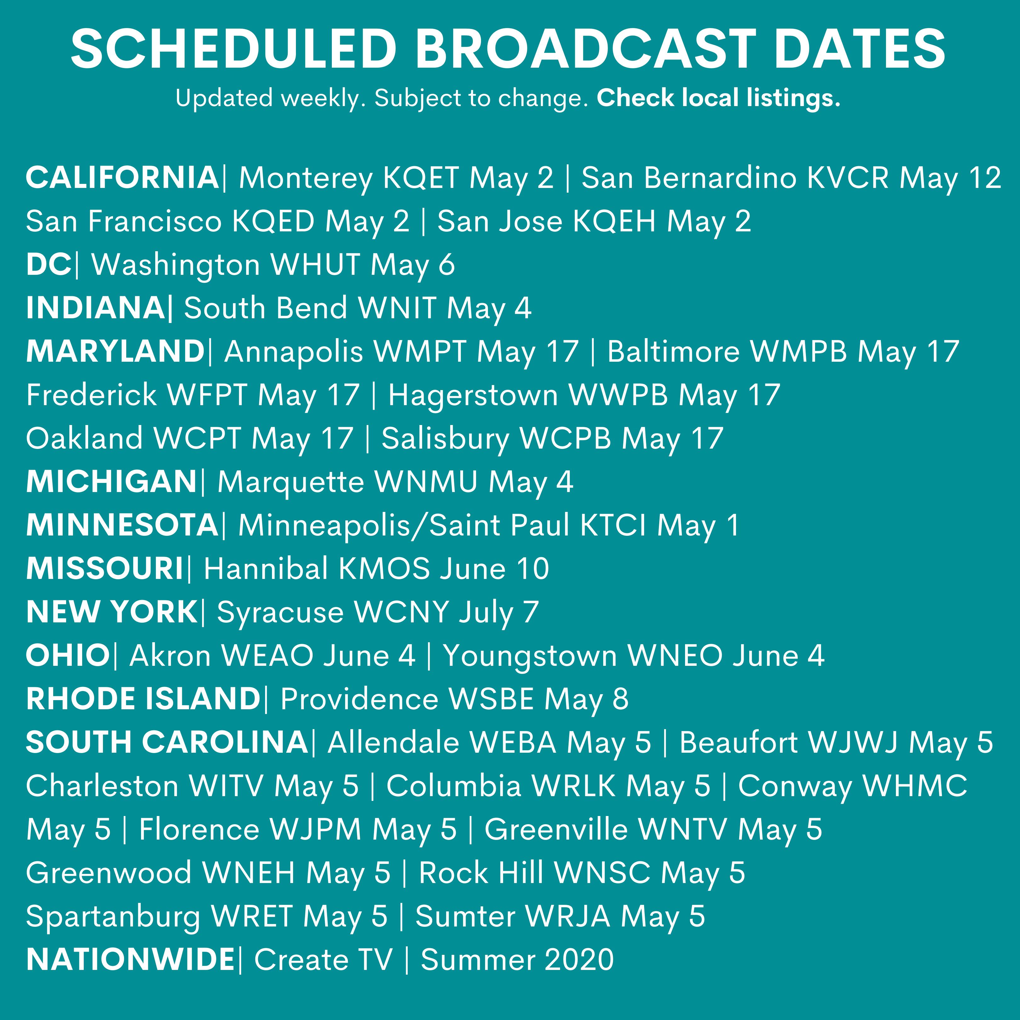Broadcast Dates
