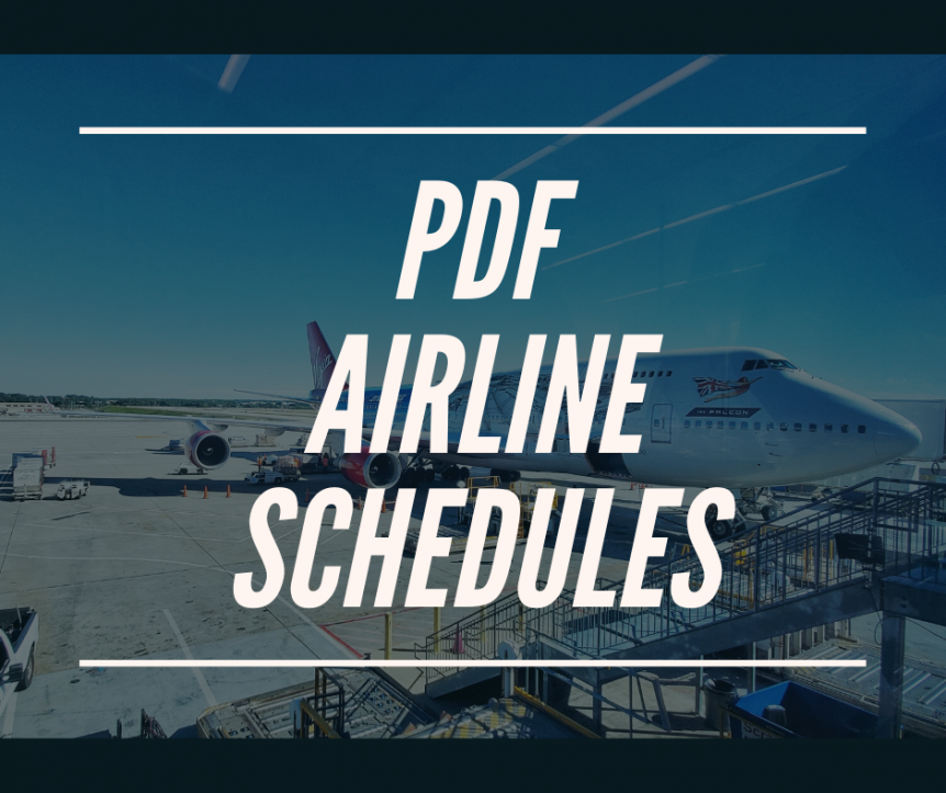 PDF Airline Schedules