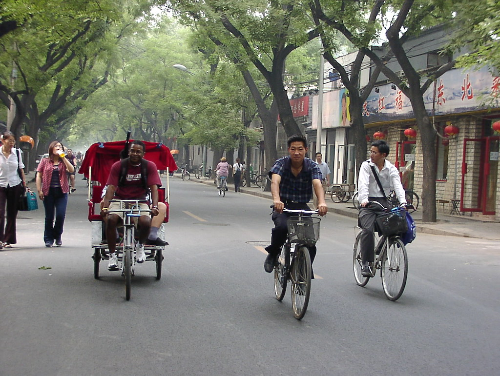 Riding the rickshaw in Beijing