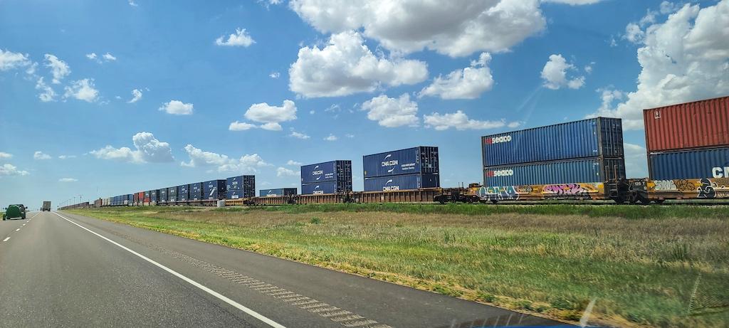 Train in Claude, Texas