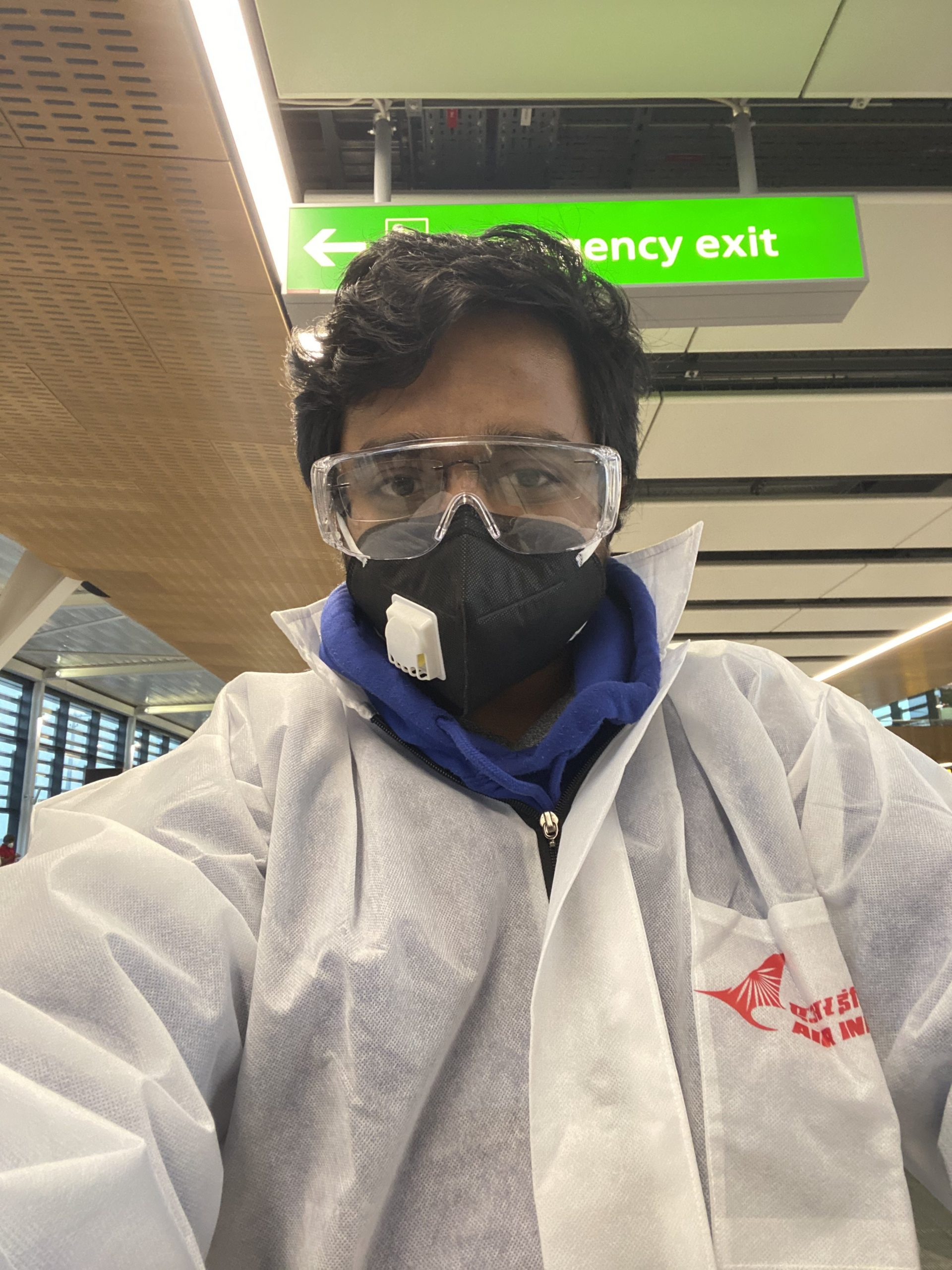 Ram Kumar - Repatriation flight hazmat suit and PPE